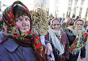 A rally of farmers near the Verkhovna Rada.