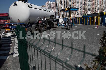 Gas station in Kiev