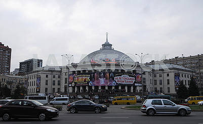The poster of the new program on the building of the National Circus of Ukraine