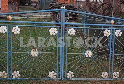 Old metal gates