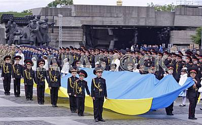 Parade of military lyceums in Kiev