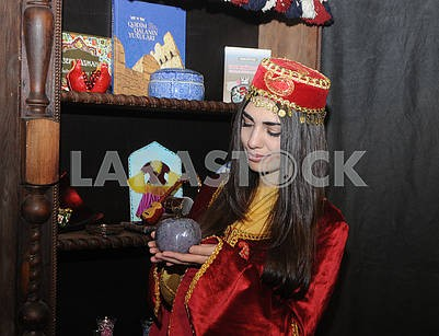 The girl in the Crimean Tatar costume