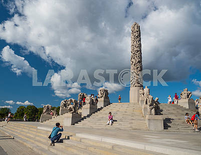 Sculptural composition in Vigeland Park