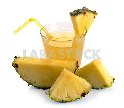 Full glass of pineapple juice