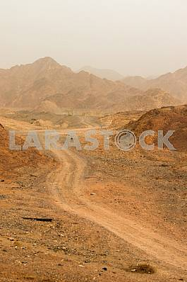 The road in the desert. Eilat. Israel