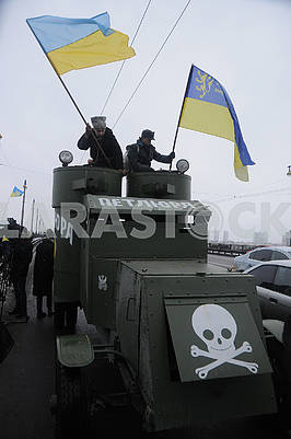 """Participants of the action on the armored car """"Petlyura"""""""