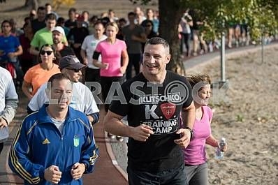 Vitali Klitschko at the opening of the treadmill