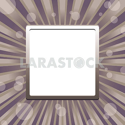 Square frame template with sun baubles and blank place for text