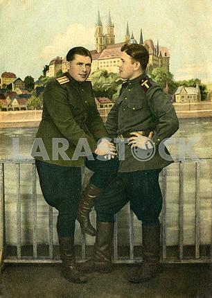 Soviet officers. Studio portrait