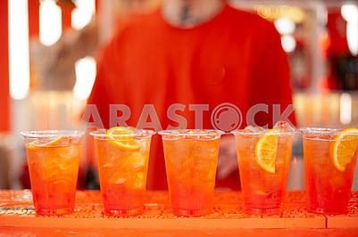 Five orange cocktails