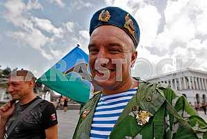 Celebrating Airborne Forces Day in Kiev