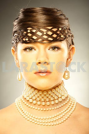 Portrait of a beautiful young luxury woman