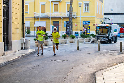 Runners on the street of Split