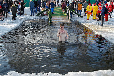 Celebration of Epiphany in Kiev