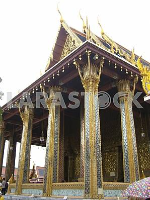 Grand Palace. Temple of the Emerald Buddha - Wat Phra Kaew. Bangkok, Thailand. 2012.