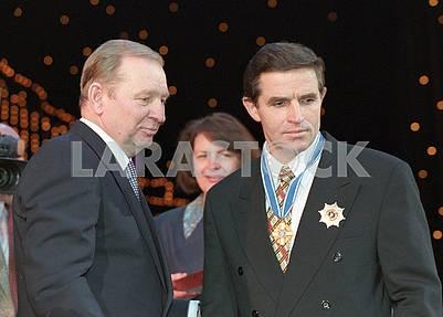 Leonid Kuchma and Leonid Kadenyuk