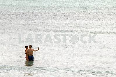 Zanzibar. Young couple on a tropical island