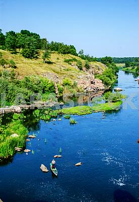 Ros River in the Cherkasy region