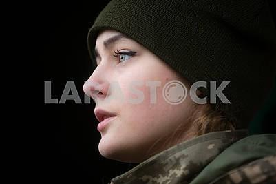 Girl serviceman