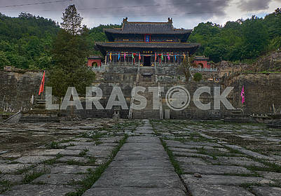 Old taoist kungfu tmple on the montain