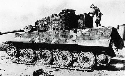 Destroyed german heavy tank Tiger