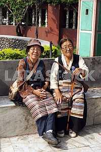 Local residents of Kathmandu. Nepal