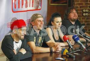 Press conference of the group Skryabin in Kiev