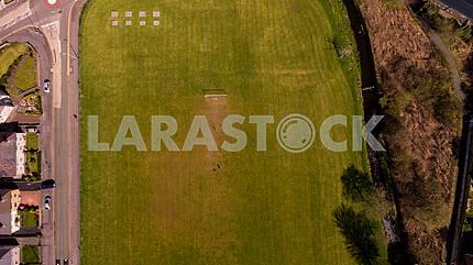 Aerial Football Field