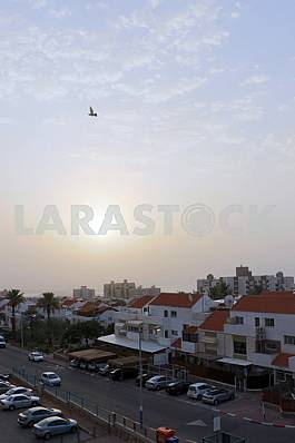 Residential complex in Eilat in the morning