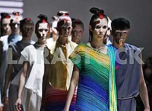 The models walk during demonstrates outfit by Ukrainian designer Sistan Varvara