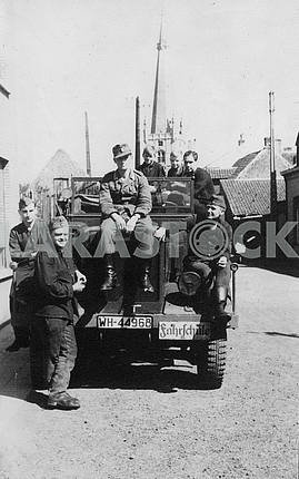 German soldiers on the truck