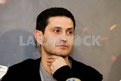 """The director of the film """"Cyborgs"""", the Ukrainian and Crimean Tatar film actor, theater and film director, screenwriter Ahtem Seitablayev during the pre-premiere screening of the film """"Cyborgs"""""""