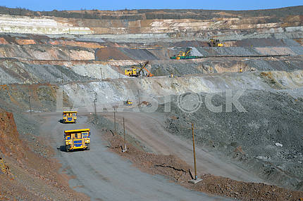 Mine of iron ore