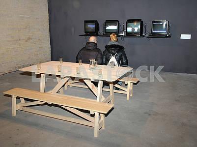 "Exhibition ""Flashback. Ukrainian media art of the 1990s »"