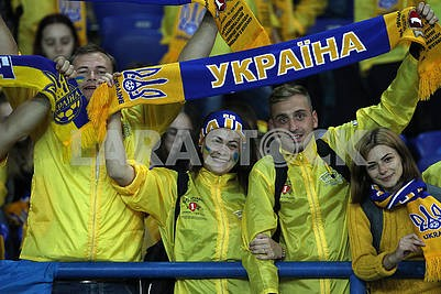 Fans of the national team of Ukraine