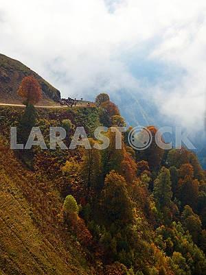 Autumn landscape in the Caucasus Mountains