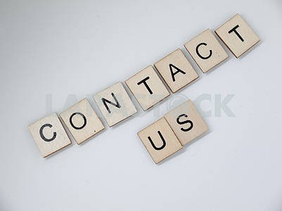 Contact Us Wooden Letters