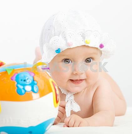 Closeup portrait of adorable baby