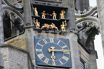 Detail of the Gothic town hall of Middelburg