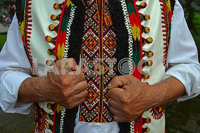 Hutsul in an embroidered shirt