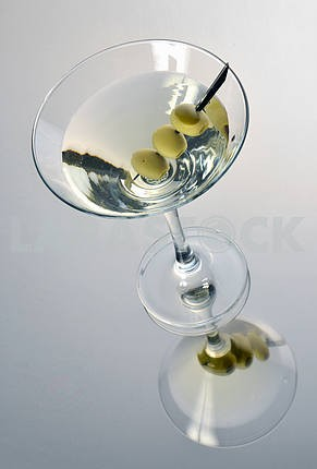 Martini with olives
