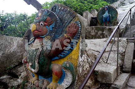 Stone statue in Nepal, Kathmandu