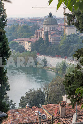 Cathedral of St. George and the River Adige