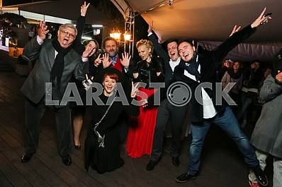 "Ilya November with his wife, Valery Chiglyaev on the 10th anniversary of the magazine ""Focus"""