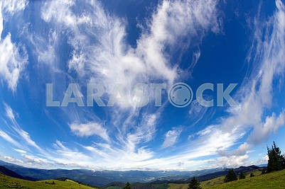 Cirrus clouds in Europe