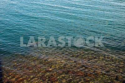 Crystal clear sea water