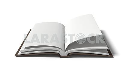 blank white book on isolated white background in 3D rendering