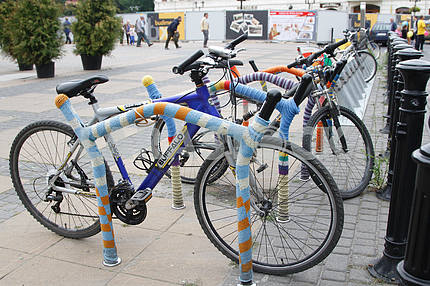Bicycle parking in Lublin