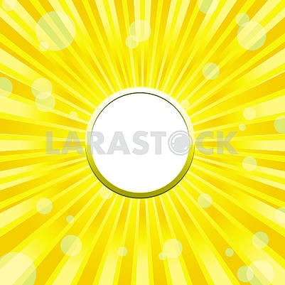 Yellow sunny Frame background with light solars