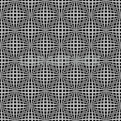 Optical illusion grayscale seamless pattern with lines